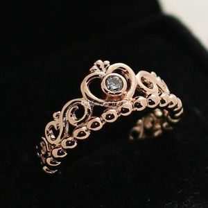 Pandora gold princess ring!!
